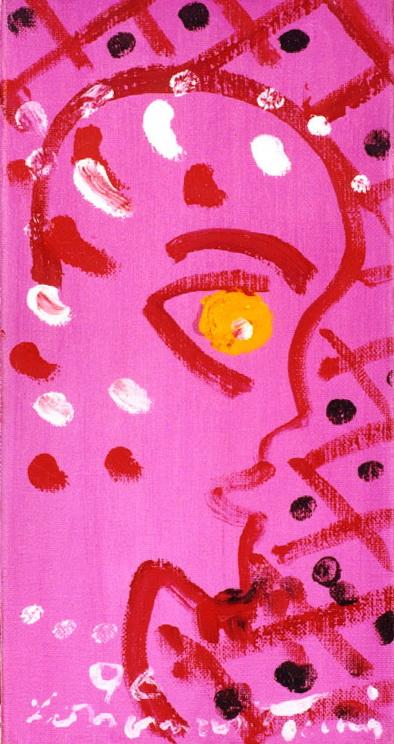716<br/> <b>cím:</b> Rózsaszín fej <br/> <b>méret (cm):</b> 30x15 <br/> <b>év:</b> 1996