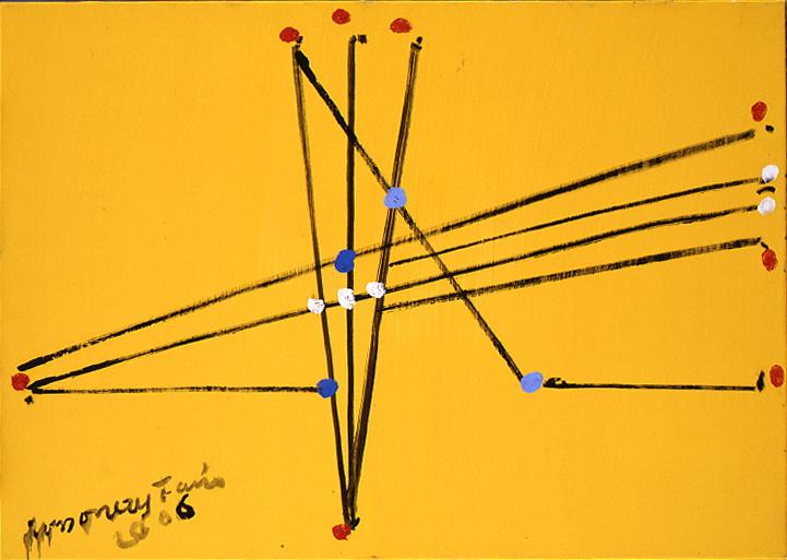 1344<br/> <b>cím:</b> Pont és vonal szerelme VI. <br/> <b>méret (cm):</b> 50x70 <br/> <b>év:</b> 2006