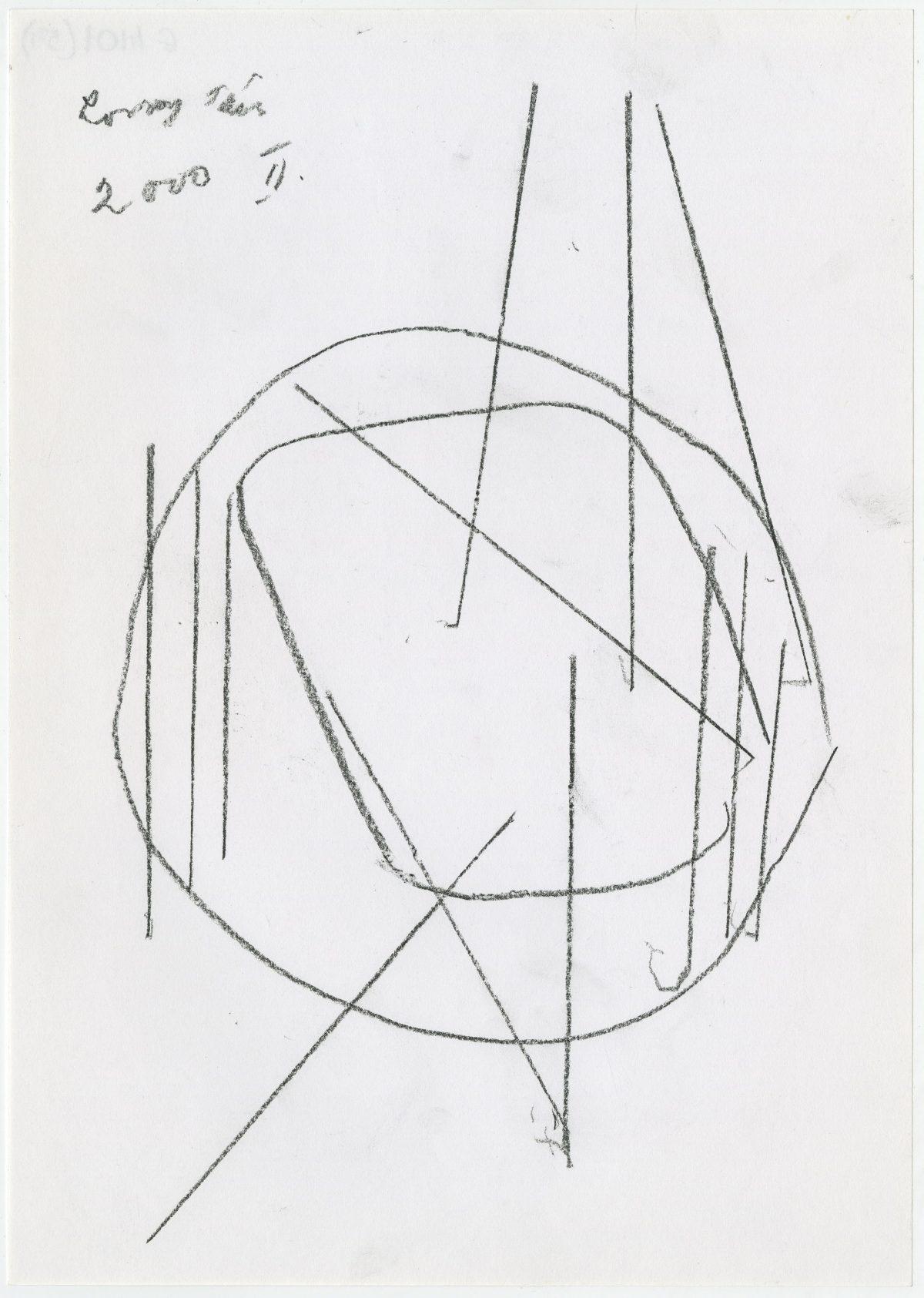 G04101(54)<br/> <b>Cím:</b> Cím nélkül <br/> <b>Méret cm:</b> 29,6X21 <br/> <b>Készült:</b> 2000. <br/> <b>Technika:</b> ceruza<br/>