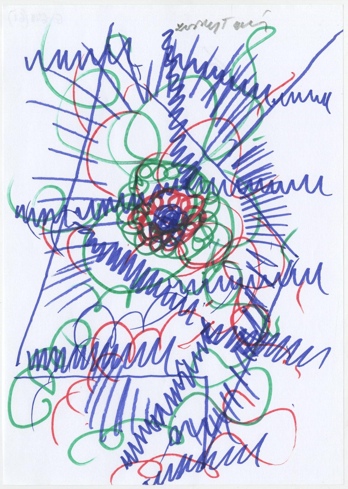 G06411(61)<br/> <b>Cím:</b> Szemnek agynak … <br/> <b>Méret cm:</b> 29,6X21 <br/> <b>Készült:</b> 2002. <br/> <b>Technika:</b> filc<br/>