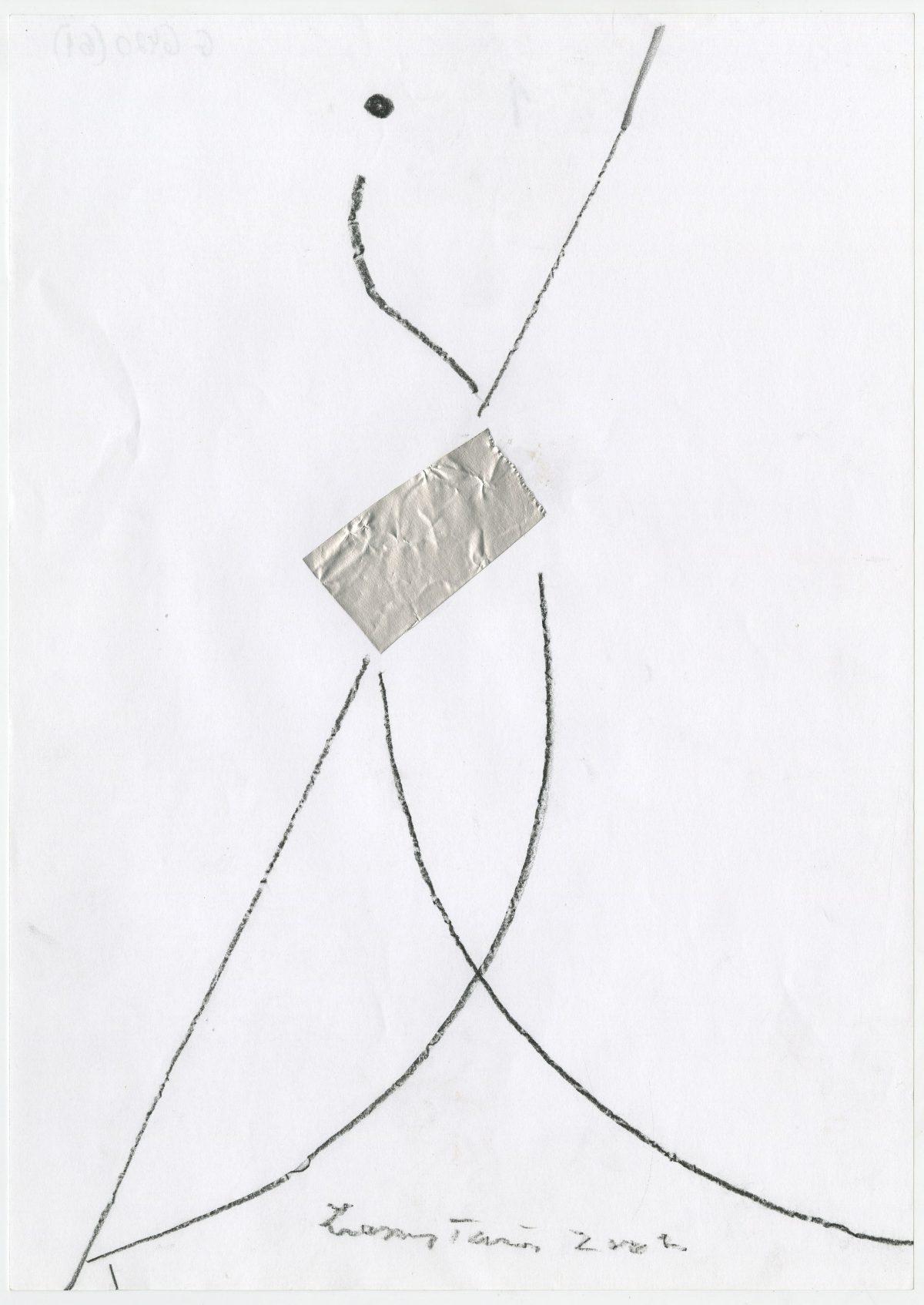 G06420(61)<br/> <b>Cím:</b> Tisztaságra vágyik az ember <br/> <b>Méret cm:</b> 29,6X21 <br/> <b>Készült:</b> 2002. <br/> <b>Technika:</b> ceruza<br/>