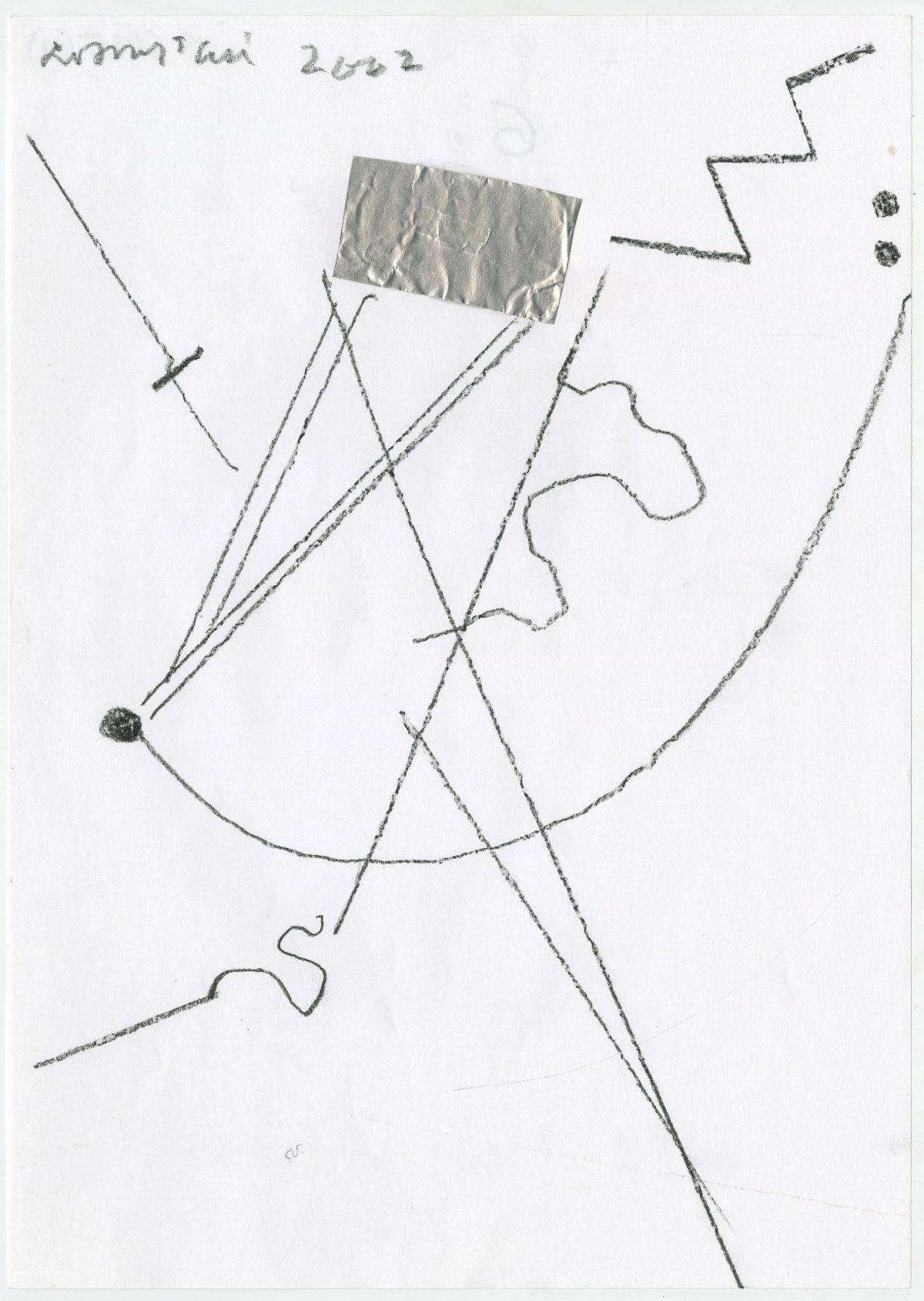G06425(61)<br/> <b>Cím:</b> Tisztaságra vágyik az ember <br/> <b>Méret cm:</b> 29,6X21 <br/> <b>Készült:</b> 2002. <br/> <b>Technika:</b> ceruza<br/>