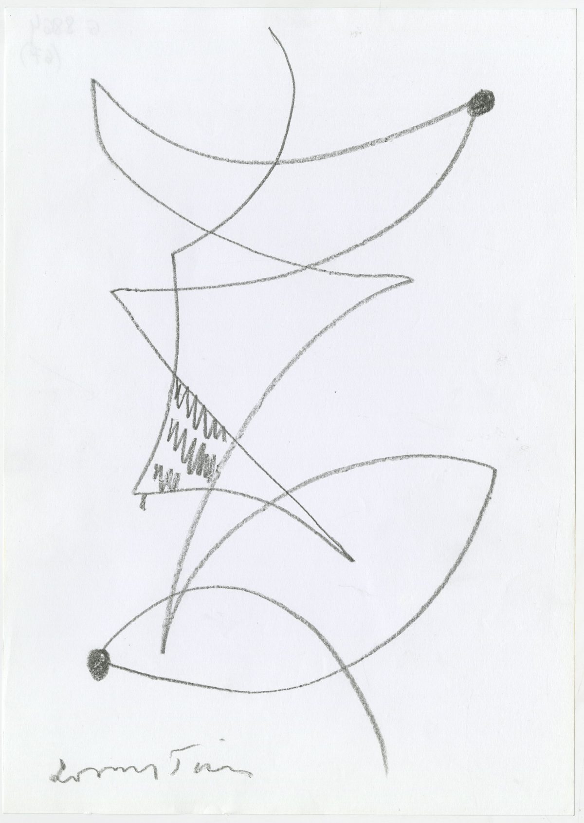 G08864(67)<br/> <b>Cím:</b> Szeressed a szépet … <br/> <b>Méret cm:</b> 29,6X21 <br/> <b>Készült:</b> 2003. <br/> <b>Technika:</b> ceruza<br/>