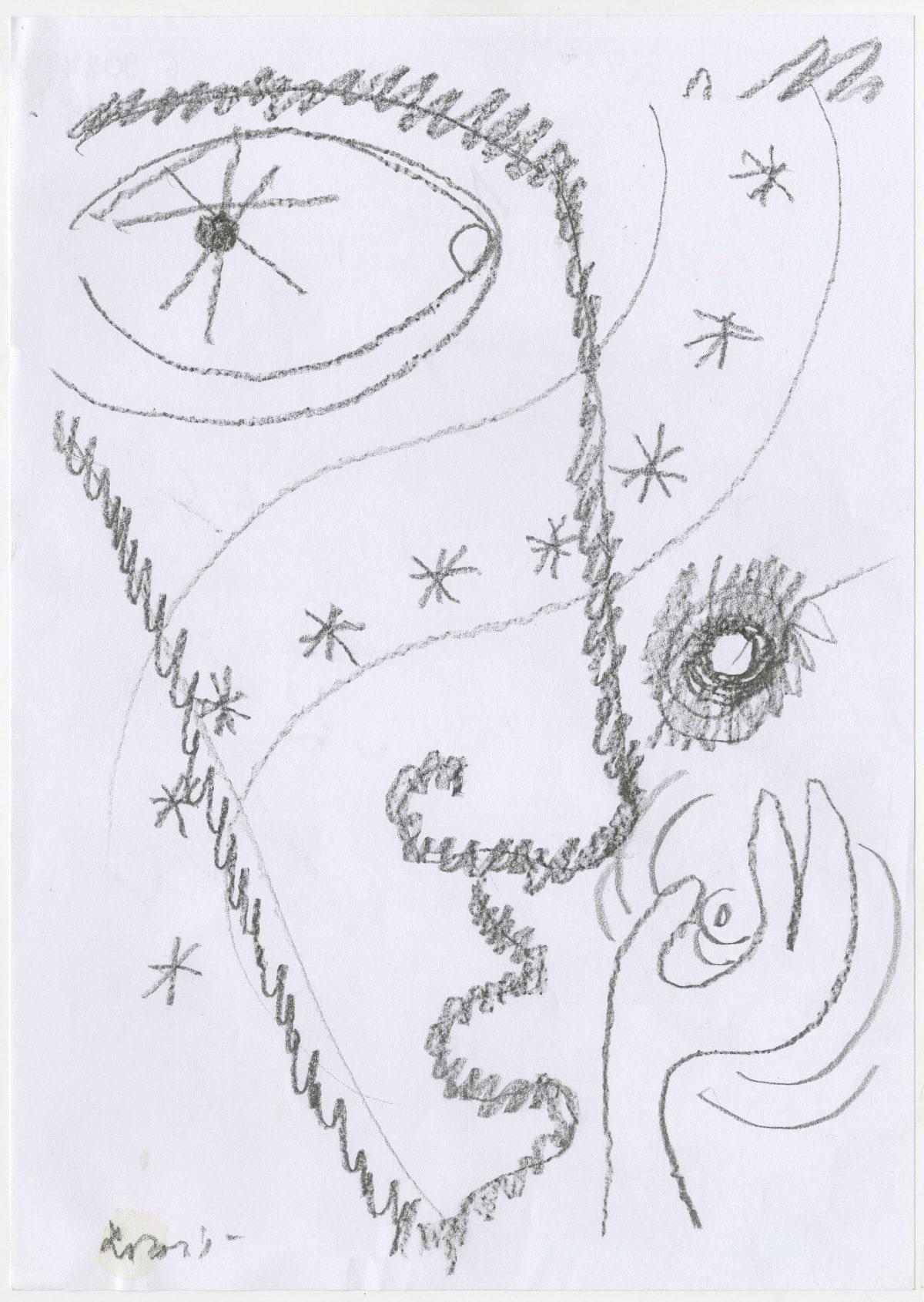 G09087(68)<br/> <b>Cím:</b> A művészet indirekt szexualitás <br/> <b>Méret cm:</b> 29,6x21 <br/> <b>Készült:</b> 2003. <br/> <b>Technika:</b> ceruza<br/>