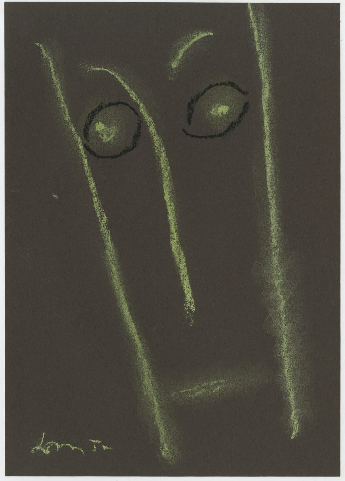 G13186(78)<br/> <b>Cím:</b> Fűbe harapók <br/> <b>Méret cm:</b> 29,6X21 <br/> <b>Készült:</b> 2005. <br/> <b>Technika:</b> pittkréta<br/>