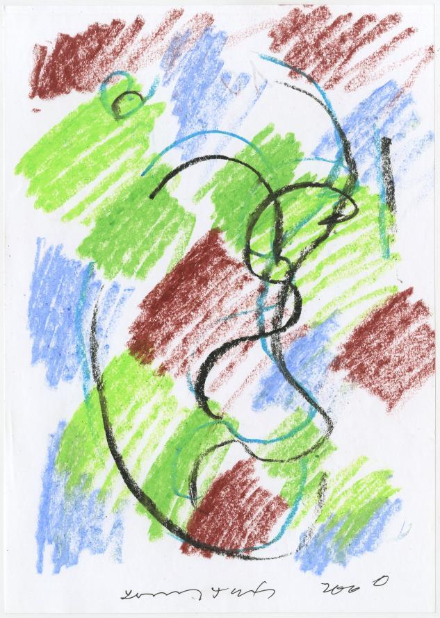 G17760(88)<br/> <b>Cím:</b> Tamás csak ennyit szólt … <br/> <b>Méret cm:</b> 29,6x21 <br/> <b>Készült:</b> 2006. <br/> <b>Technika:</b> pasztell<br/>