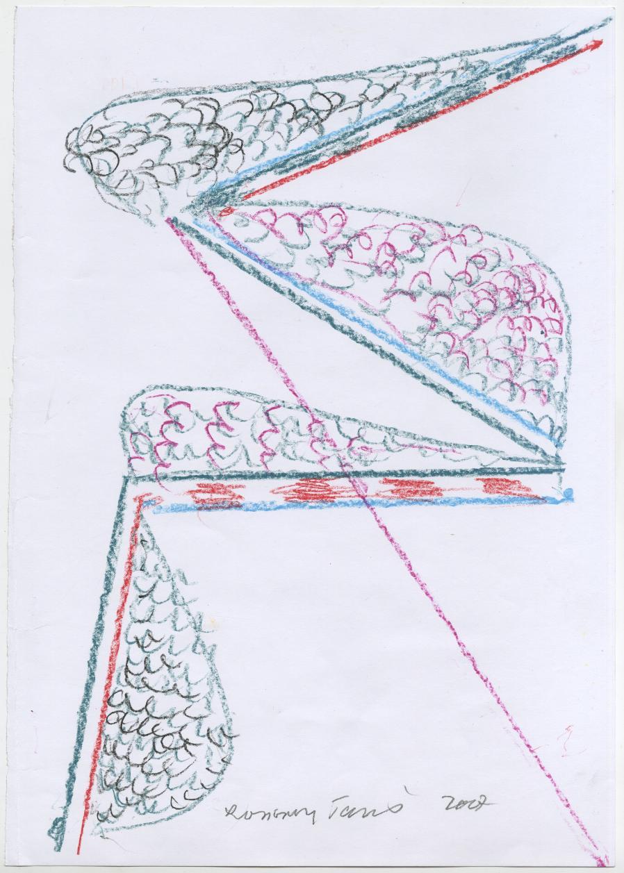G19998(92)<br/> <b>Cím:</b> Mulandó - maradandó <br/> <b>Méret cm:</b> 42X29,6 <br/> <b>Készült:</b> 2007. <br/> <b>Technika:</b> pasztell<br/>