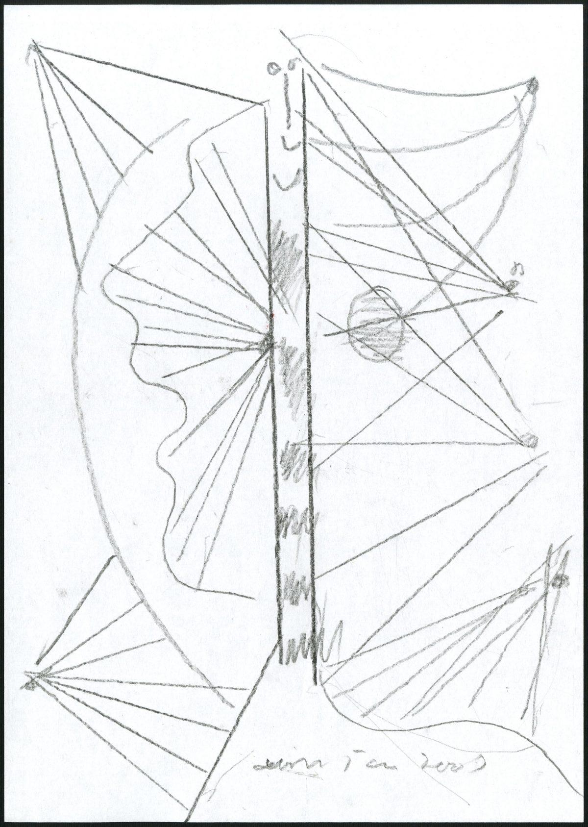 G24004(97)<br/> <b>Cím:</b> Világos <br/> <b>Méret cm:</b> 29,8X21 <br/> <b>Készült:</b> 2007. <br/> <b>Technika:</b> ceruza<br/>