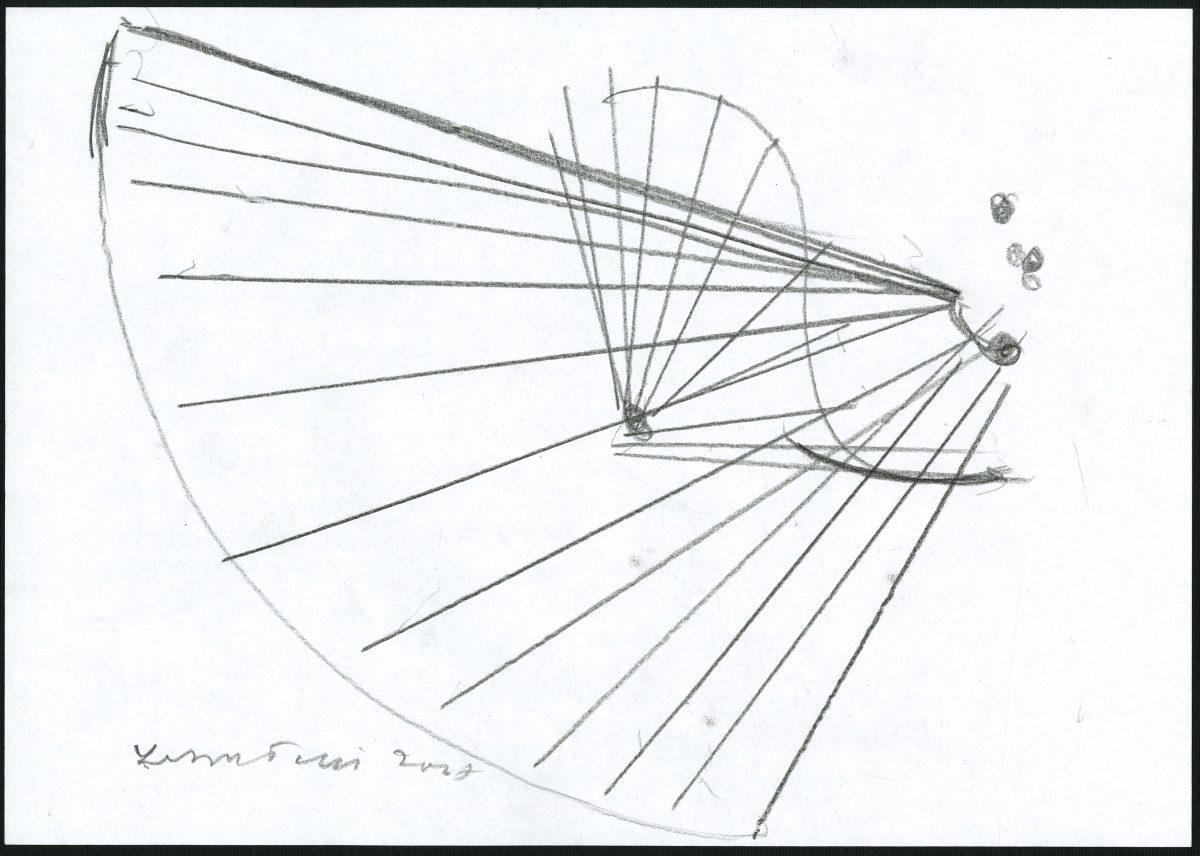 G24351(97)<br/> <b>Cím:</b> Egy csengetés visszhangja ; Fuss hát szellemparipám <br/> <b>Méret cm:</b> 21x29,8 <br/> <b>Készült:</b> 2007. <br/> <b>Technika:</b> ceruza<br/>