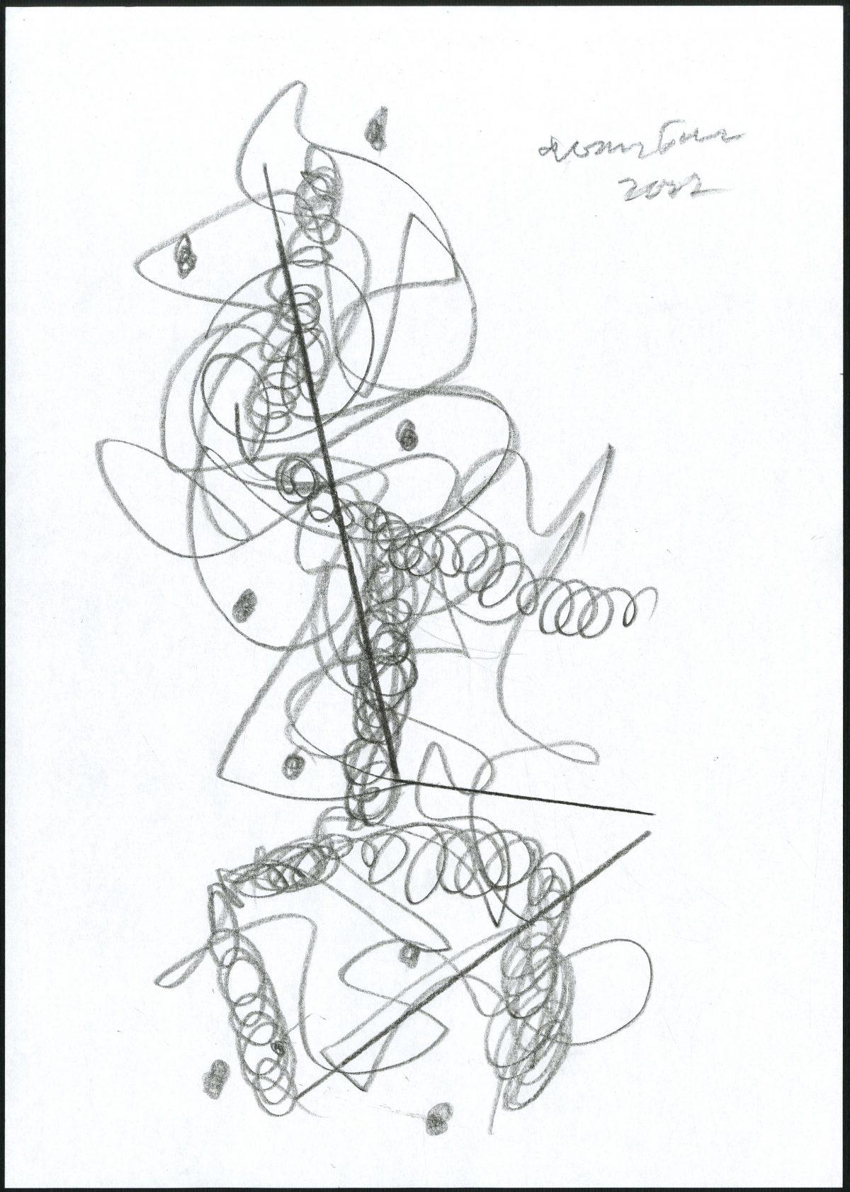 G24462(97)<br/> <b>Cím:</b> Csend. Csend <br/> <b>Méret cm:</b> 29,8X21 <br/> <b>Készült:</b> 2007. <br/> <b>Technika:</b> ceruza<br/>