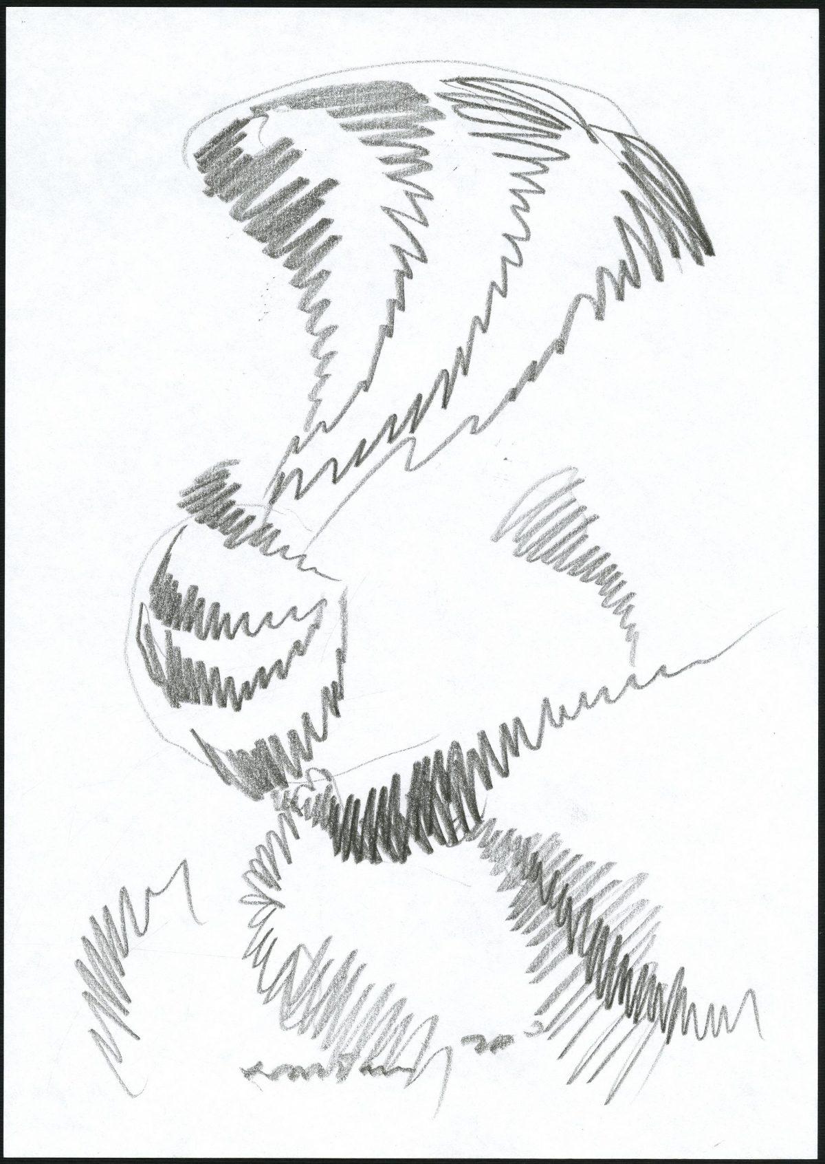 G26307(101)<br/> <b>Cím:</b> Végtelenbe vezető utak <br/> <b>Méret cm:</b> 29,8x21 <br/> <b>Készült:</b> 2007. <br/> <b>Technika:</b> ceruza<br/>