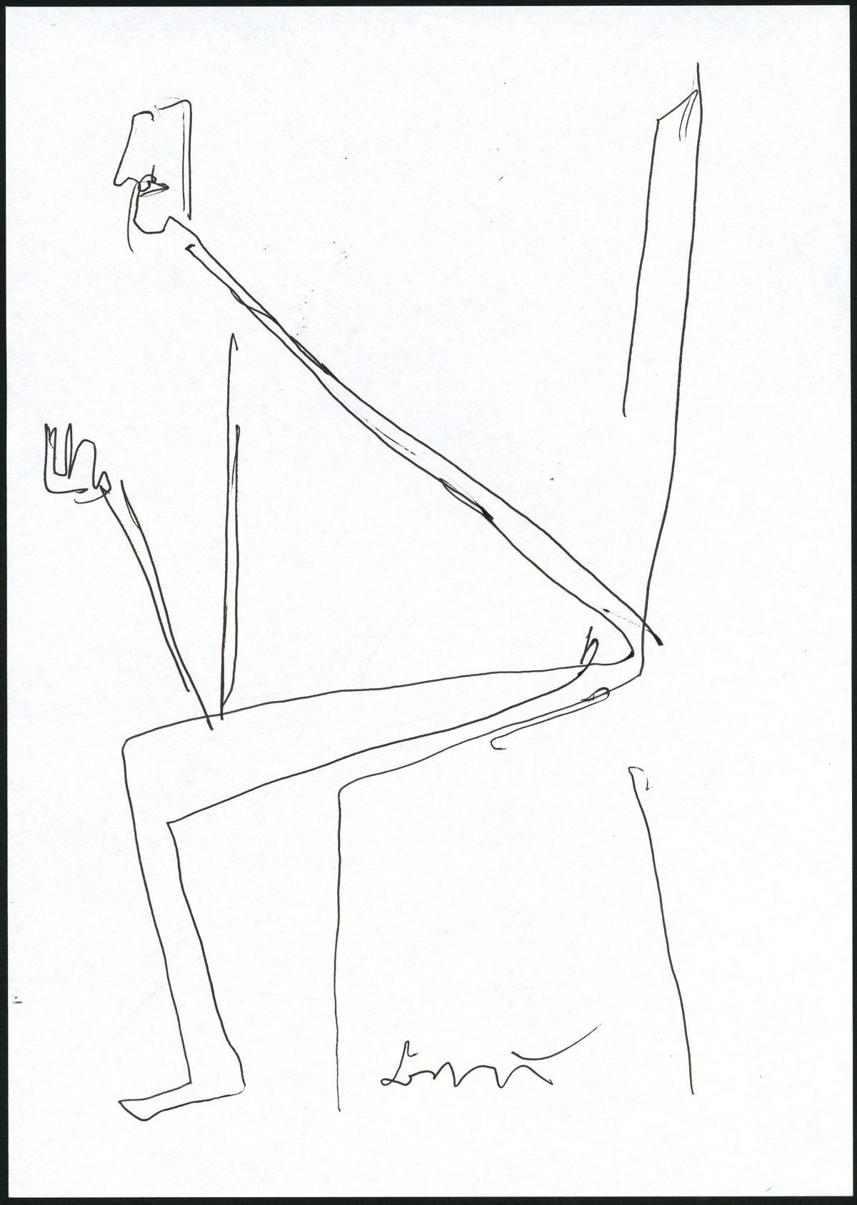 G26987(102)<br/> <b>Cím:</b> Kissé szeszélyesek <br/> <b>Méret cm:</b> 29,8x21 <br/> <b>Készült:</b> 2007. <br/> <b>Technika:</b> toll<br/>
