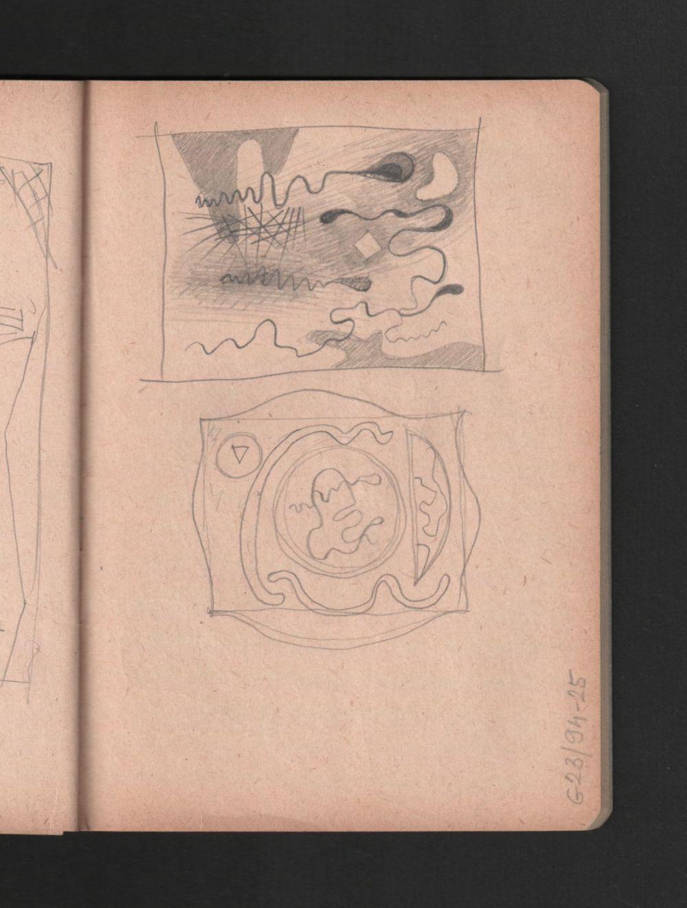 g00094 25 a(23)<br/><b>Cím:</b> Cím nélkül<br/><b>Méret (cm):</b> -<br/><b>Készült:</b> 1948.<br/><b>Technika:</b> ceruza<br/>