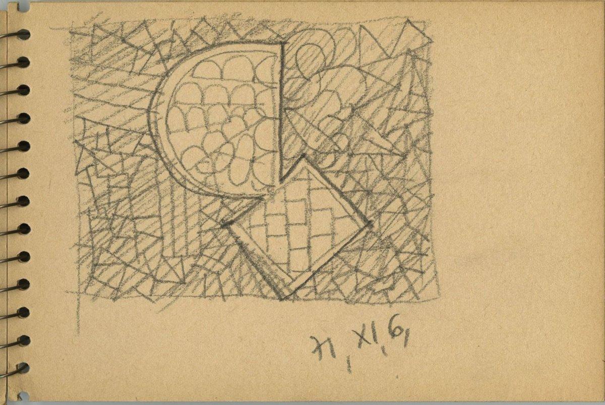G36755 28(132)<br/><b>Cím:</b> Cím nélkül<br/><b>Méret (cm):</b> 17x11,3<br/><b>Készült:</b> 1971.<br/><b>Technika:</b> ceruza<br/>