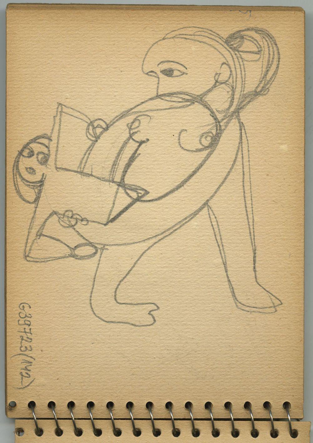 G39723(142)<br/><b>Cím:</b> Cím nélkül<br/><b>Méret (cm):</b> 16,5x12<br/><b>Készült:</b> 1957.<br/><b>Technika:</b> ceruza<br/>