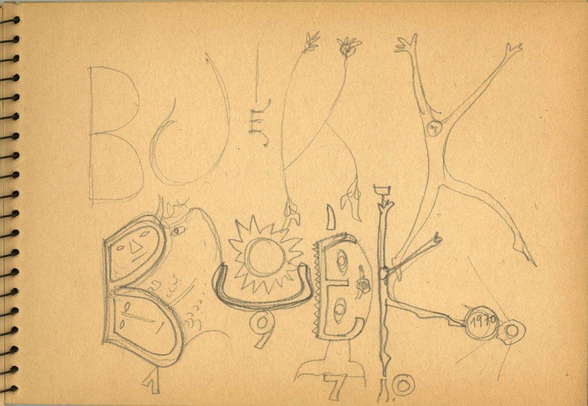 G39899(143)<br/><b>Cím:</b> BUÉK 1970<br/><b>Méret (cm):</b> 16,5x23,8<br/><b>Készült:</b> 1969.<br/><b>Technika:</b> ceruza<br/>