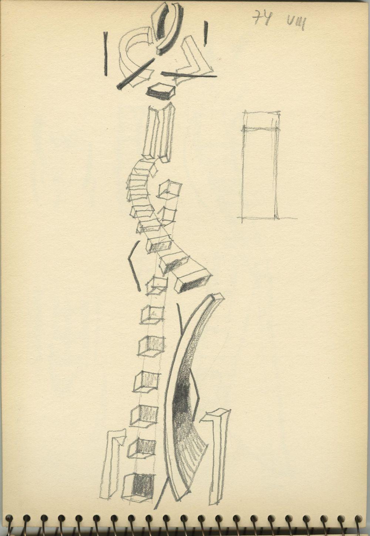G40576(144)<br/><b>Cím:</b> Cím nélkül<br/><b>Méret (cm):</b> 23,5x16,6<br/><b>Készült:</b> 1974.<br/><b>Technika:</b> ceruza<br/>