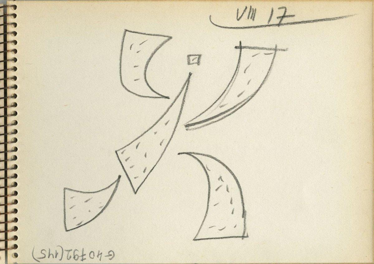G40792(145)<br/><b>Cím:</b> Cím nélkül<br/><b>Méret (cm):</b> 11,8x16,5<br/><b>Készült:</b> 1977.<br/><b>Technika:</b> ceruza<br/>