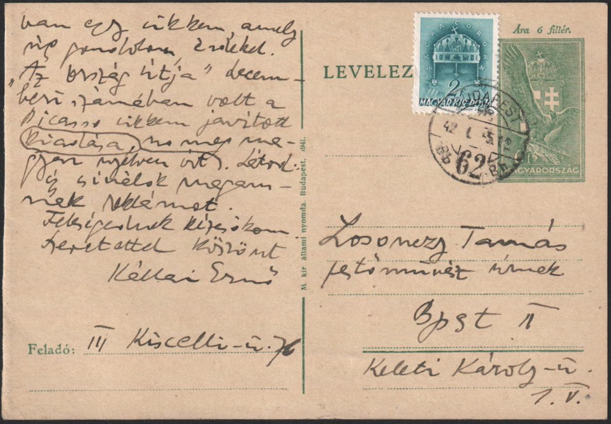 1942-01-05 Kállai Ernőtől