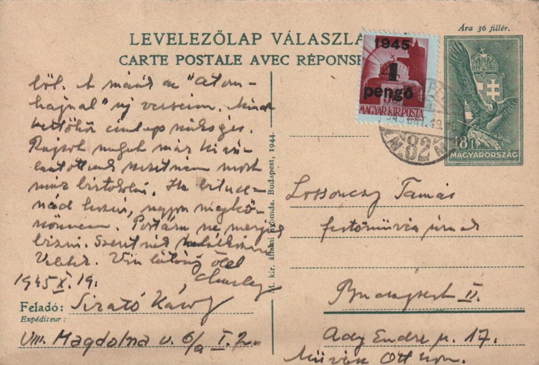 1945-10-19 Sirató Károlytól